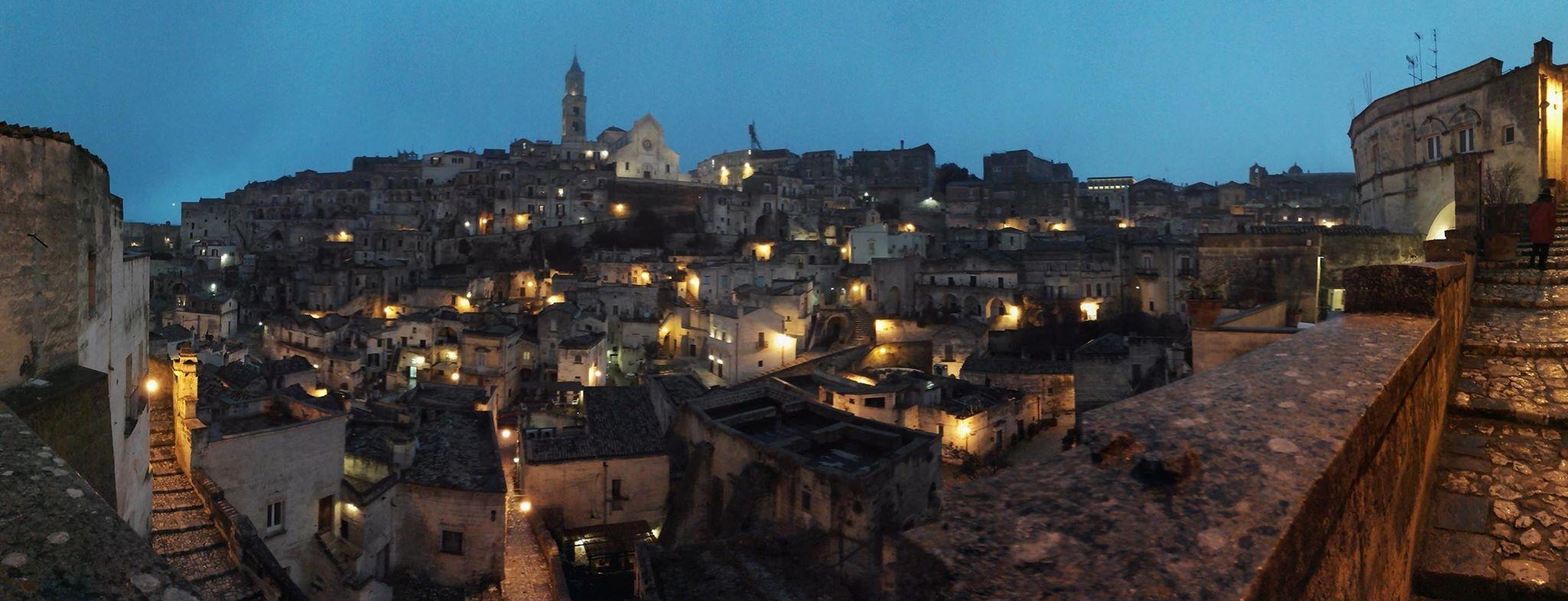 Foto panoramica di Matera